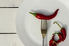 Glühender Paprika-Pfeffer Landhausstil Stockfoto