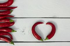 Glühender Paprika-Pfeffer Landhausstil Stockfotografie