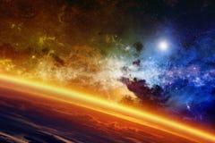 Glühender Planet Stockbild