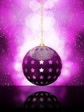 Glühender purpurroter Weihnachtsflitter Lizenzfreie Stockbilder