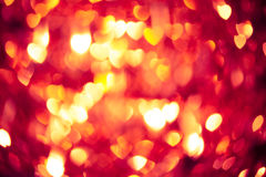 Glühender roter Herzhintergrund Lizenzfreies Stockfoto