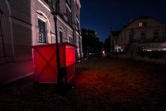 Glühender roter Stand Stockfoto