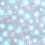 Glühender Schnee auf grauem Vektorhintergrund Stockfoto