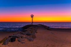 Glühender Sonnenuntergang stockbilder