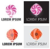 Glühender Strudel Abstract Company oder Blumen-Logo Stockfoto