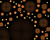 Glühender Tasten-Auszug Lizenzfreie Stockfotos