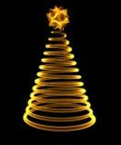 Glühender Weihnachtsbaum Stockfotos