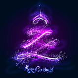 Glühender Weihnachtsbaum Lizenzfreies Stockfoto