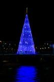 Glühender Weihnachtsbaum Lizenzfreie Stockfotografie