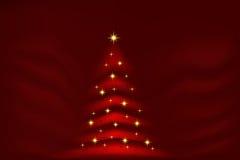Glühender Weihnachtsbaum Lizenzfreies Stockbild