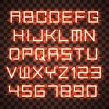 Glühendes blaues orange Alphabet Lizenzfreie Stockfotografie
