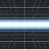Glühendes Cybergitter Stockbild