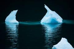 Glühendes Eis Stockfotos
