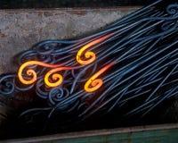 Glühendes Eisen stockfotos