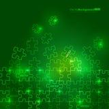 Glühendes grünes Puzzlespiel Lizenzfreies Stockbild