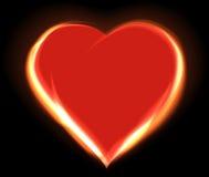 Glühendes Herz Stockbild