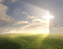 Glühendes Kreuz Lizenzfreie Stockbilder