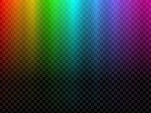 Glühendes Licht des Regenbogens Polarer Effekt des Nordlichtes stock abbildung