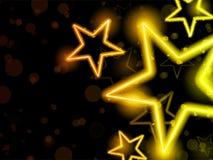 Glühendes Neon Stars Hintergrund Lizenzfreie Stockbilder