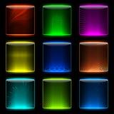 Glüheninternet-Tasten. Stockfoto