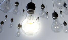 Glühlampe - angeschalten Stockfoto