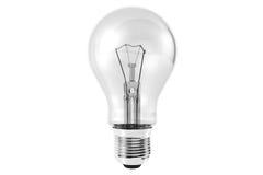 Glühlampe auf einem Weiß Stockbild