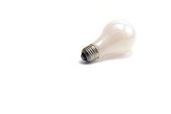 Glühlampe auf Weiß Stockbild