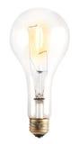 Glühlampe auf Weiß Lizenzfreie Stockbilder