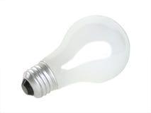 Glühlampe auf Weiß Lizenzfreie Stockfotografie