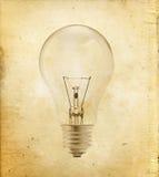 Glühlampe auf Weinlese Stockfoto