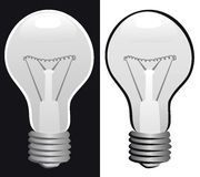 Glühlampe b&w vektor abbildung