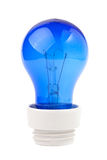Glühlampe Blau Stockfotos