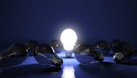 Glühlampe 3D an stockfotos