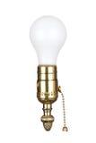 Glühlampe in der Einfaßung Lizenzfreies Stockfoto