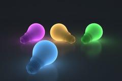 Glühlampe der Farbe Stockbild