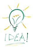 Glühlampe der Idee. Lizenzfreies Stockfoto