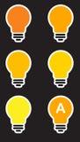 Glühlampe der Ikonen Lizenzfreie Stockbilder