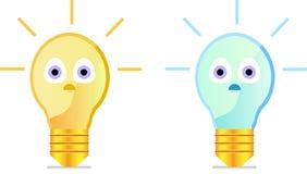 Glühlampe der Karikatur Lizenzfreie Stockfotografie