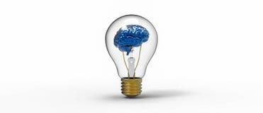 Glühlampe des Gehirns Lizenzfreies Stockfoto