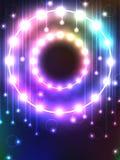 Glühlampe des Kreises Stockfoto