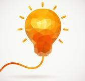 Glühlampe des Polygons, Geschäftsmotivation Stockbilder