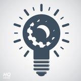 Glühlampe des Vektors, Energiegestaltungselement der hohen Qualität Lizenzfreie Stockbilder