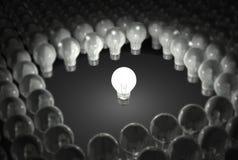 Glühlampe, die heraus steht Lizenzfreie Stockfotografie