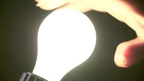 Glühlampe einschalten stock video footage