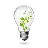 Glühlampe für eco Stockfotografie