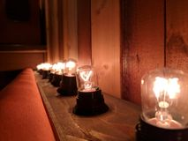 Glühlampe fillament Verzierung stockfotos