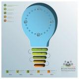 Glühlampe-Form-Geschäft Infographic Stockbilder