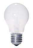Glühlampe getrennt auf Weiß Lizenzfreies Stockbild