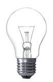 Glühlampe getrennt auf Weiß Lizenzfreie Stockfotos