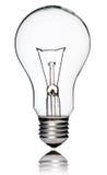 Glühlampe getrennt auf Weiß Stockfoto